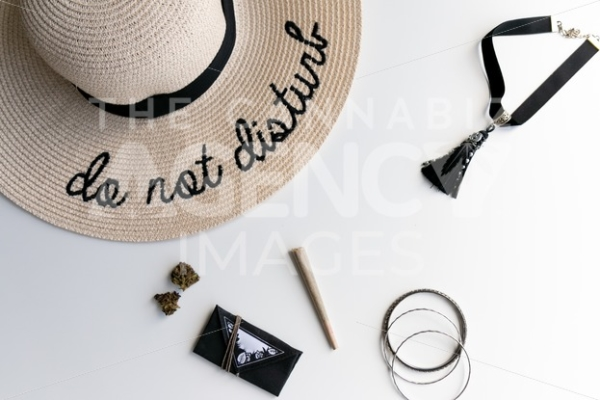 Do Not Disturb Zone Top Down - Cannabis Royalty Free Stock Images