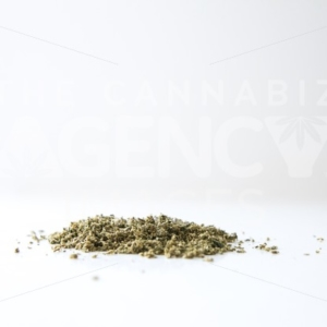 Ground Product on Clean White Backdrop - Cannabis Royalty Free Stock Images