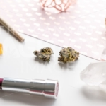 Pink Pineapples and Lipstick - Angled - Cannabis Royalty Free Stock Images